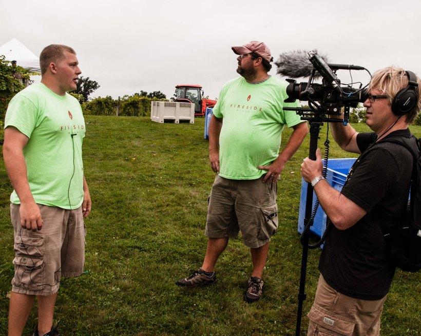 Vineyard manager (Ryan) and Winemaker (Zach) being interviewed.