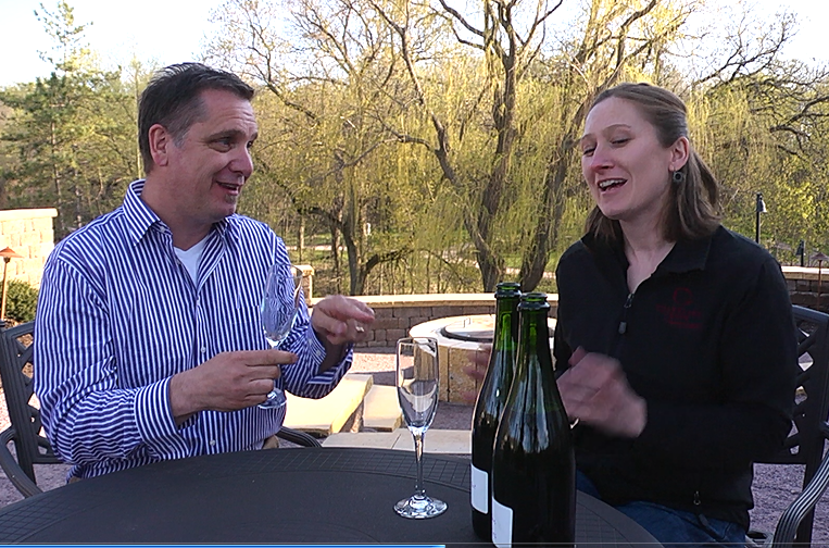 """On the Road"" with sparkling winemaker Josie Boyle of Chankaska Creek Ranch Winery."