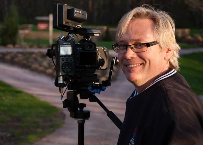Always behind the camera - Kirk.